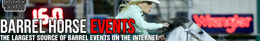 Complete listing of Barrel Racing Events